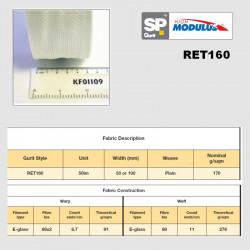 RET160 nastro e-glass 0/90°