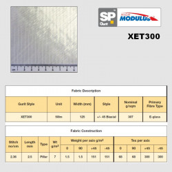 XET300 biaxial tape +/-45°