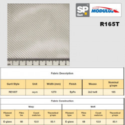 RE165T e-glass fabric 0/90°