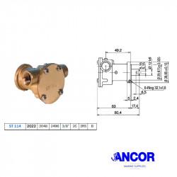 """Ancor ST114 Pompa Acqua 3/8"""""""