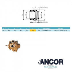 Ancor 1028 Mechanical seal...