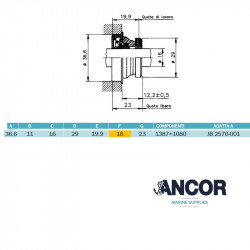 Ancor 2409 mechanical seal...
