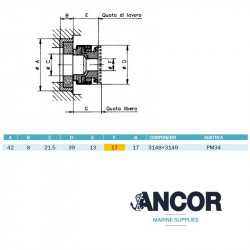 Ancor 2432 mechanical seal...