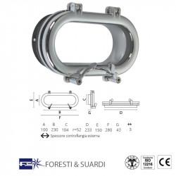 oblò ovale 104x233 mm