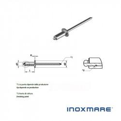 Rivetti a strappo inox 4x11