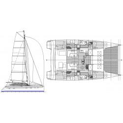 Dix 430 catamarano crociera
