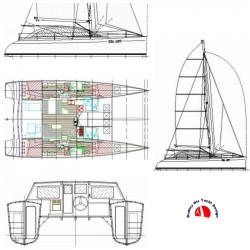 DIX 470 catamarano charter...