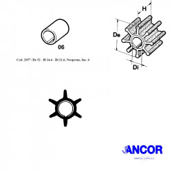 Ancor 2057 impeller