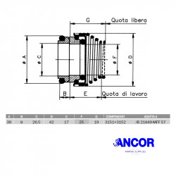 Ancor  2420 mechanical seal...