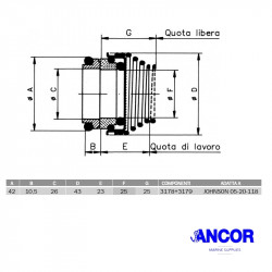 Ancor 2424 mechanical seal...