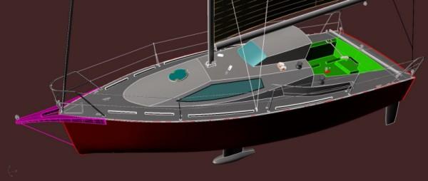Idea 850 - Barca open sportiva per regate d'altura e crociere veloci.