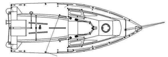 Idea 21 piano velico / Deck Plan